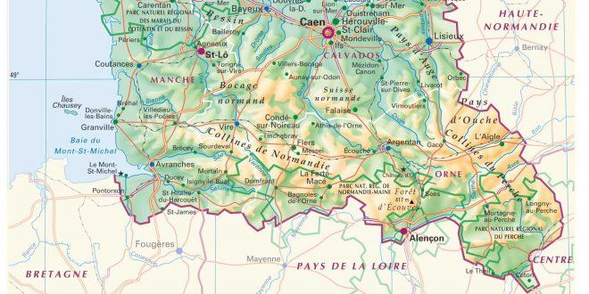 Carte de la Basse-Normandie