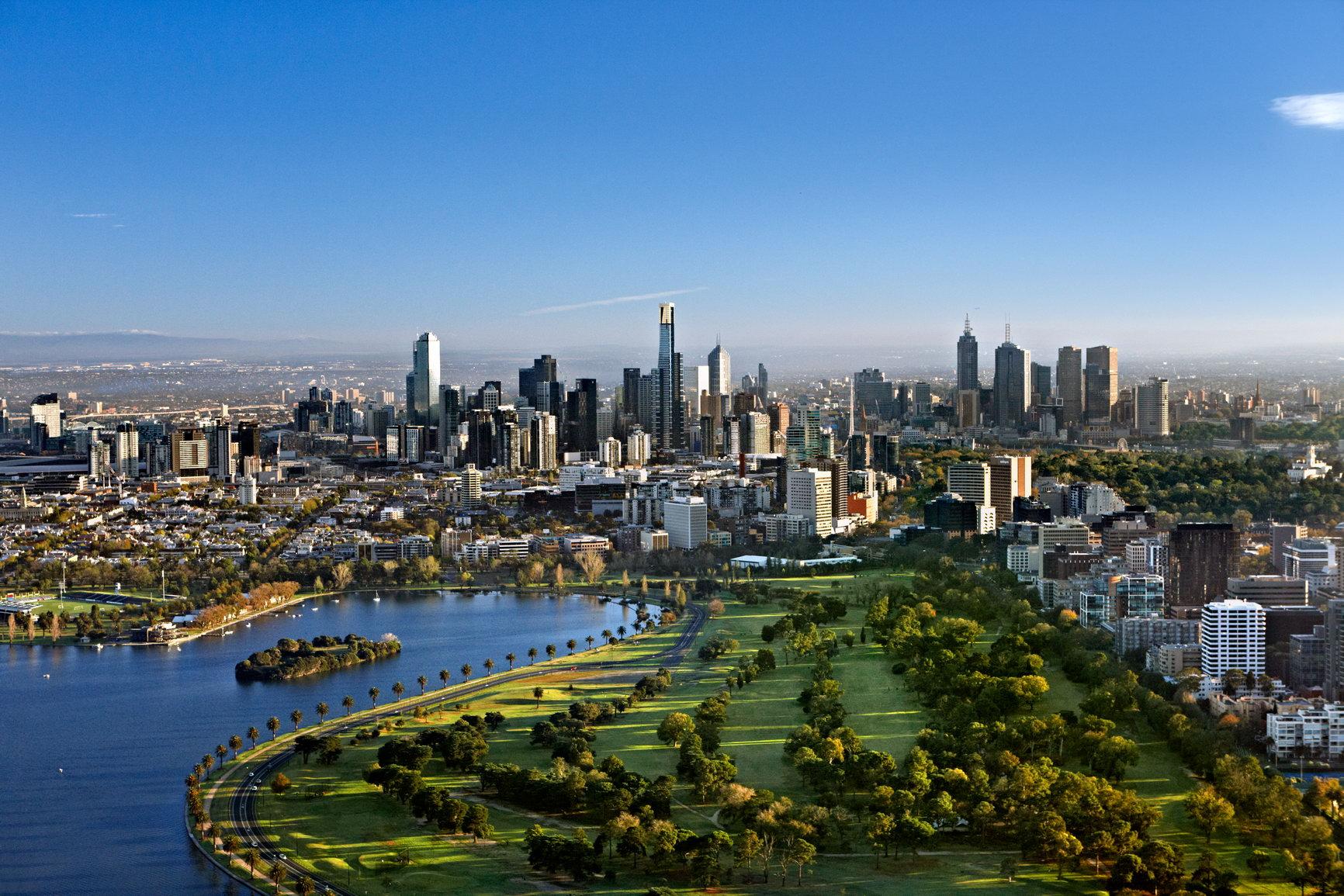 Melbourne - vue du ciel