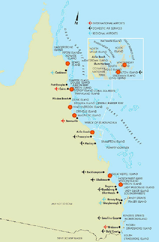 Grande barrière de corail - Carte