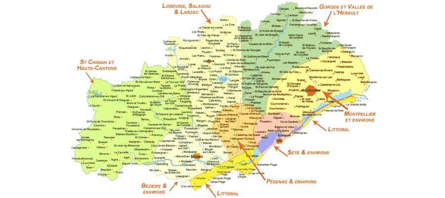 Carte département 34