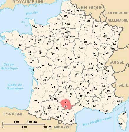 Tarn - Carte de France