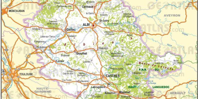 Carte du Tarn
