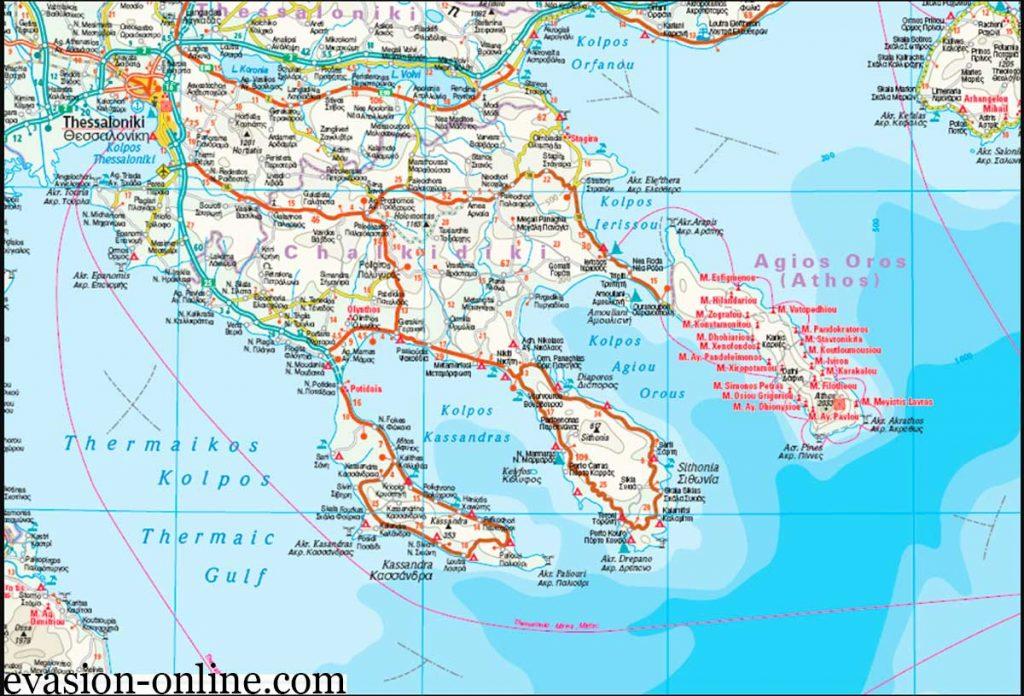 Carte détaillée de la Grèce