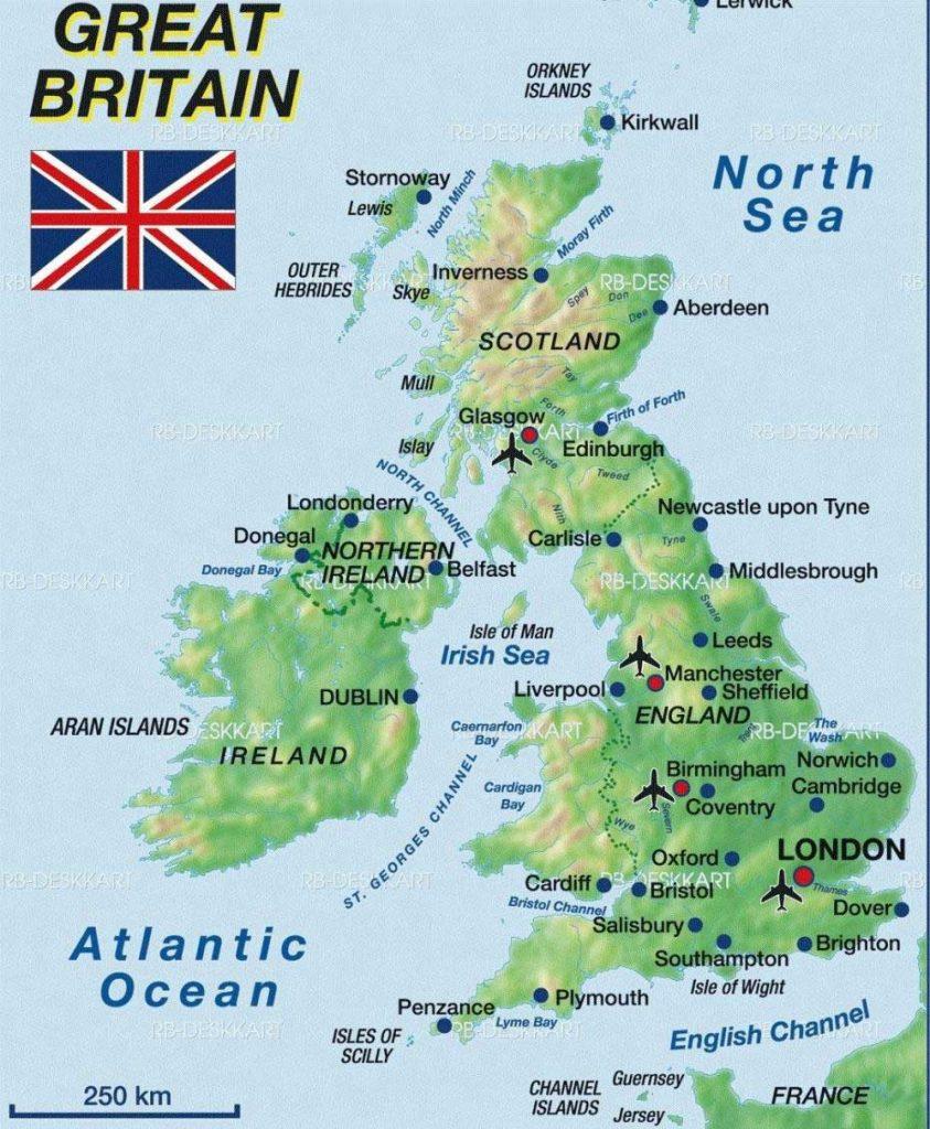 Grande Bretagne carte
