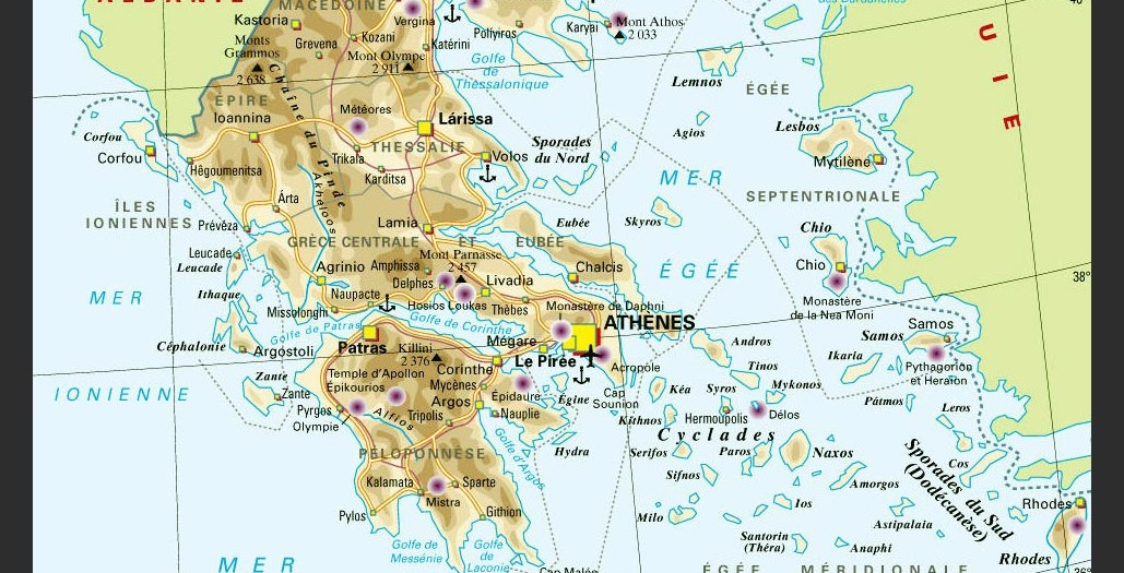 Carte de Grèce