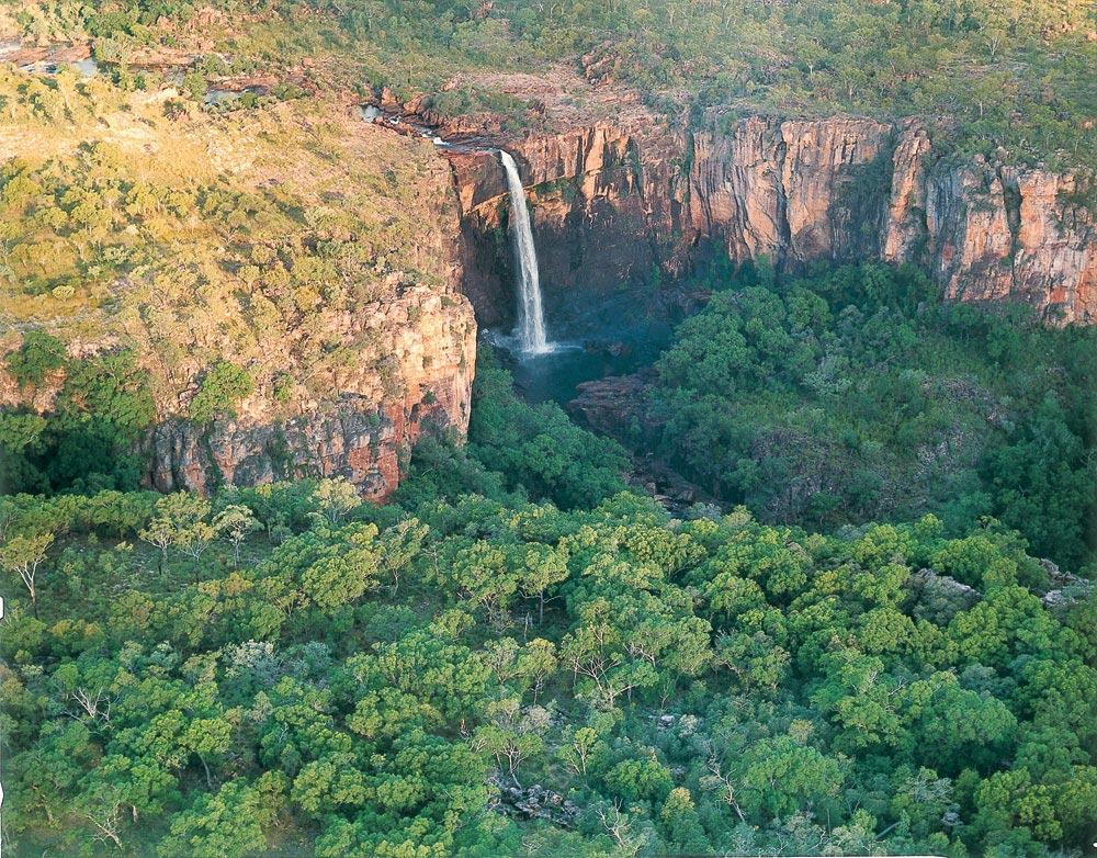 Le parc national australien de Kakadu vue du ciel