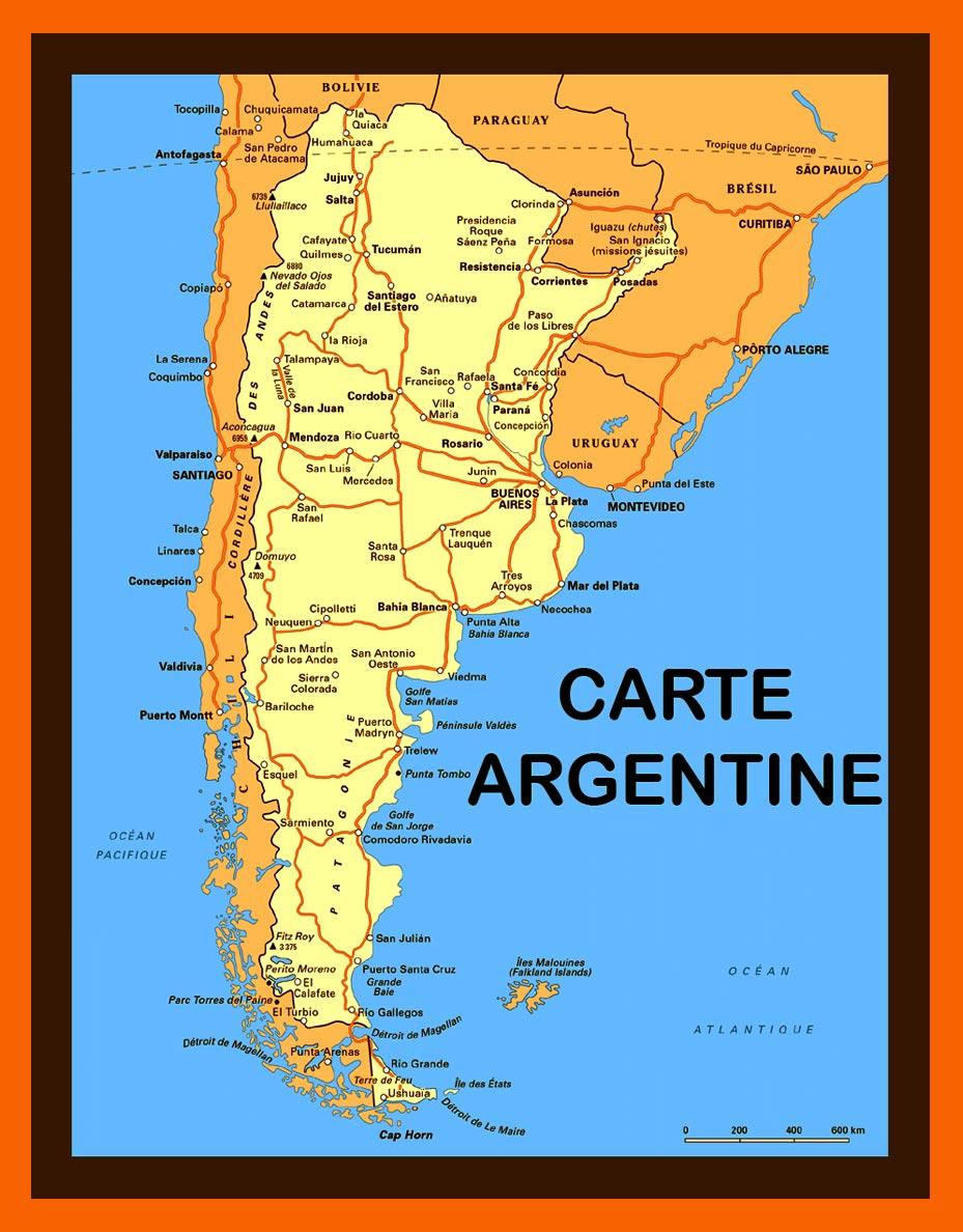 Carte Argentine et Plan | Arts et Voyages