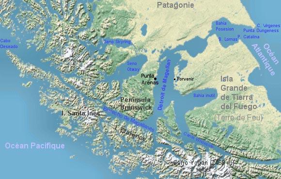 Détroit de Megellan - Carte
