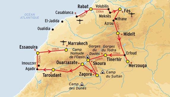 Circuit du Maroc en voyage
