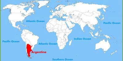 Argentine sur la carte du monde