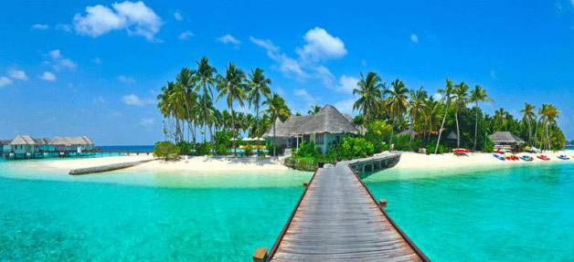 Une plage des Maldives
