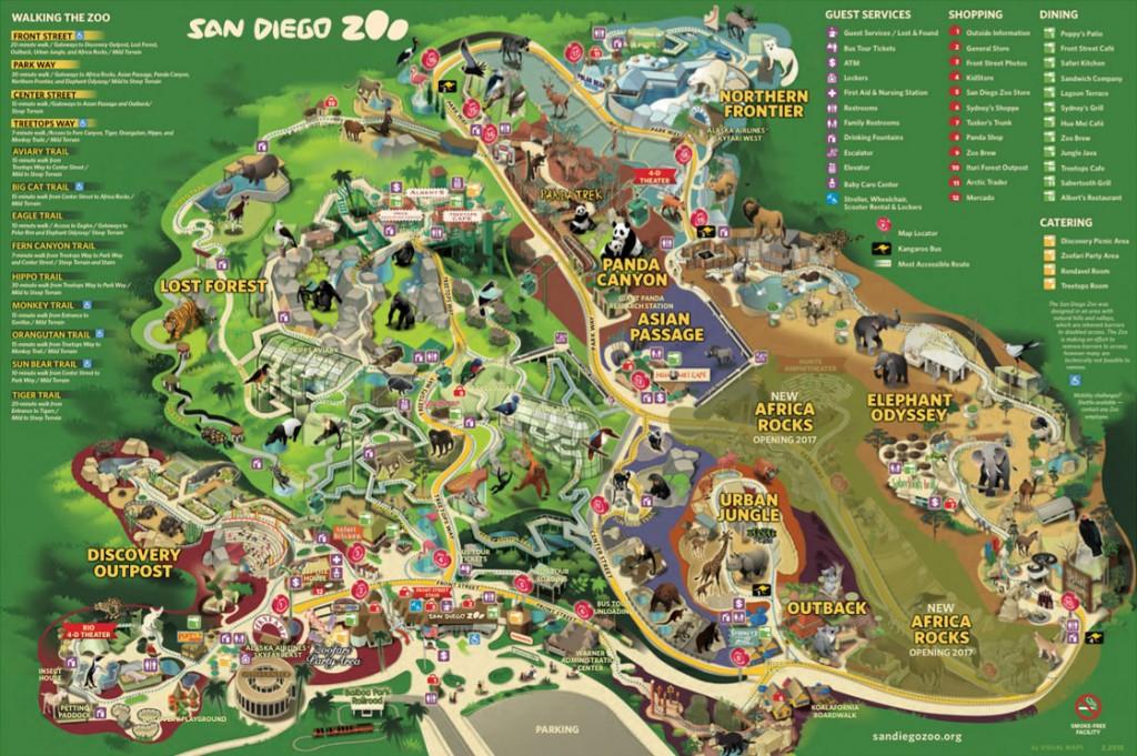 Carte du Zoo de San-Diego