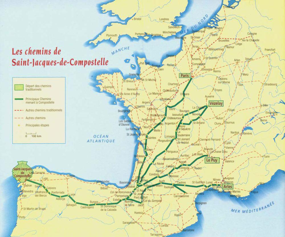 Les chemins de Saint-Jacques de CompostelleaLes chemins de Saint-Jacques de Compostelle