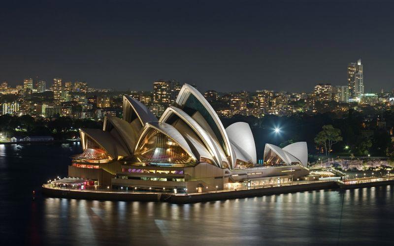 Photo de Sydney prise de nuit
