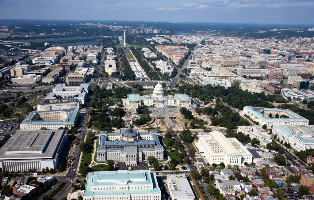 Washington- vue du ciel