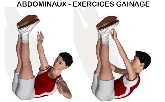 Exercice gainage pour abdominaux