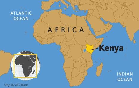 Kenya - Carte du monde