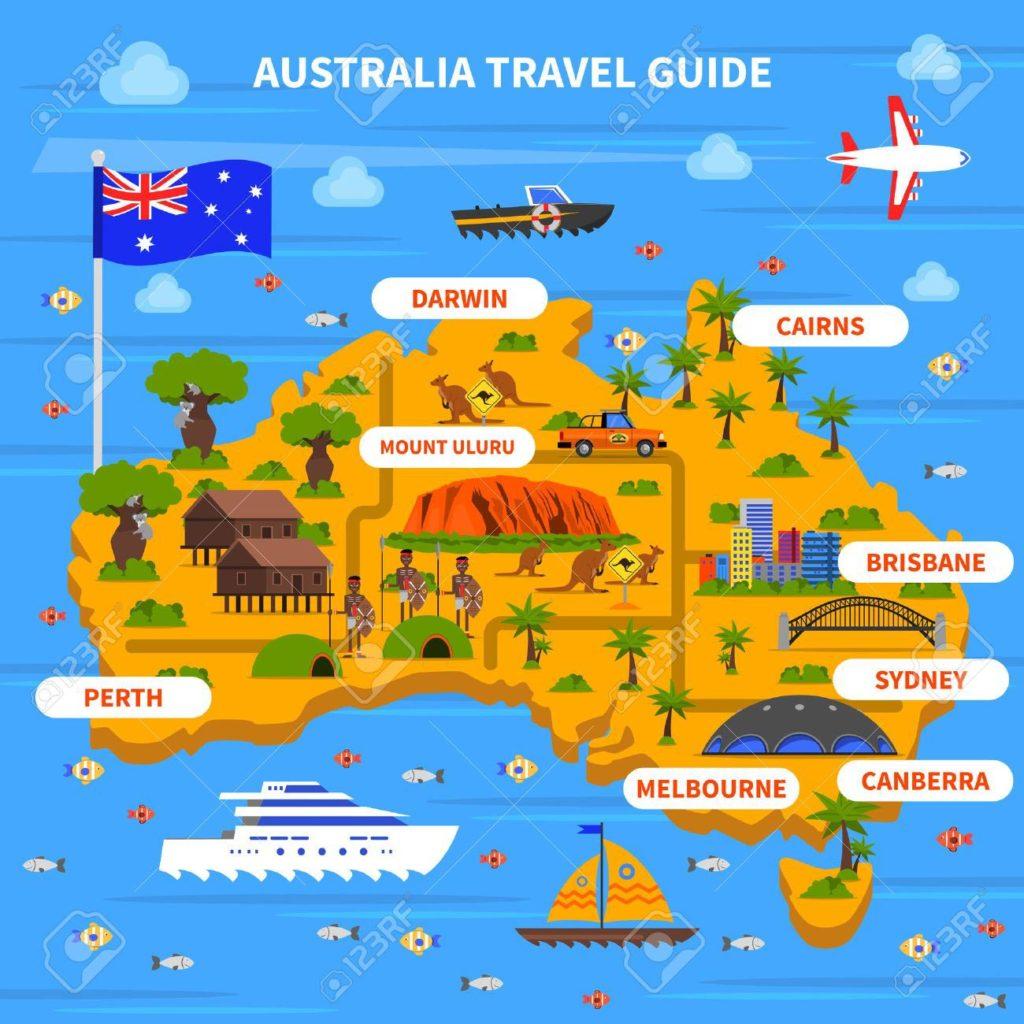 Carte Australie - Guide Voyage