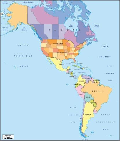 Amérique - Carte