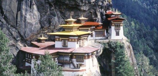 Construction dans la vallée du Bhoutan