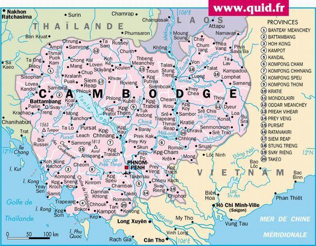 cambodge carte