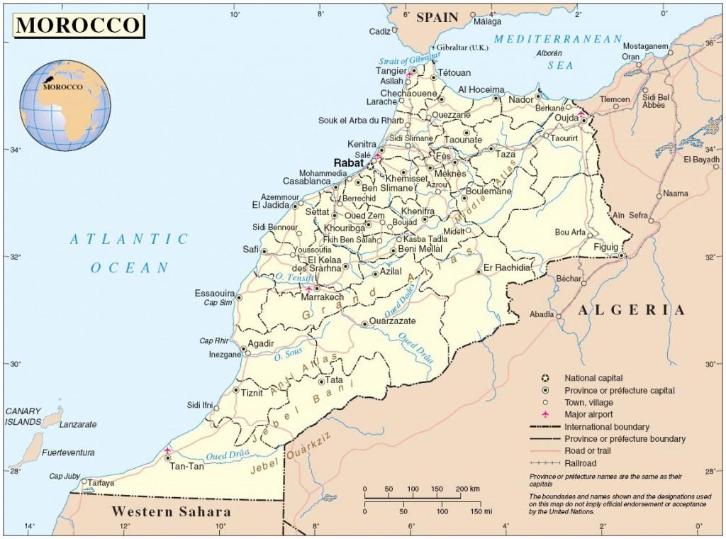 Carte du Maroc - Régions