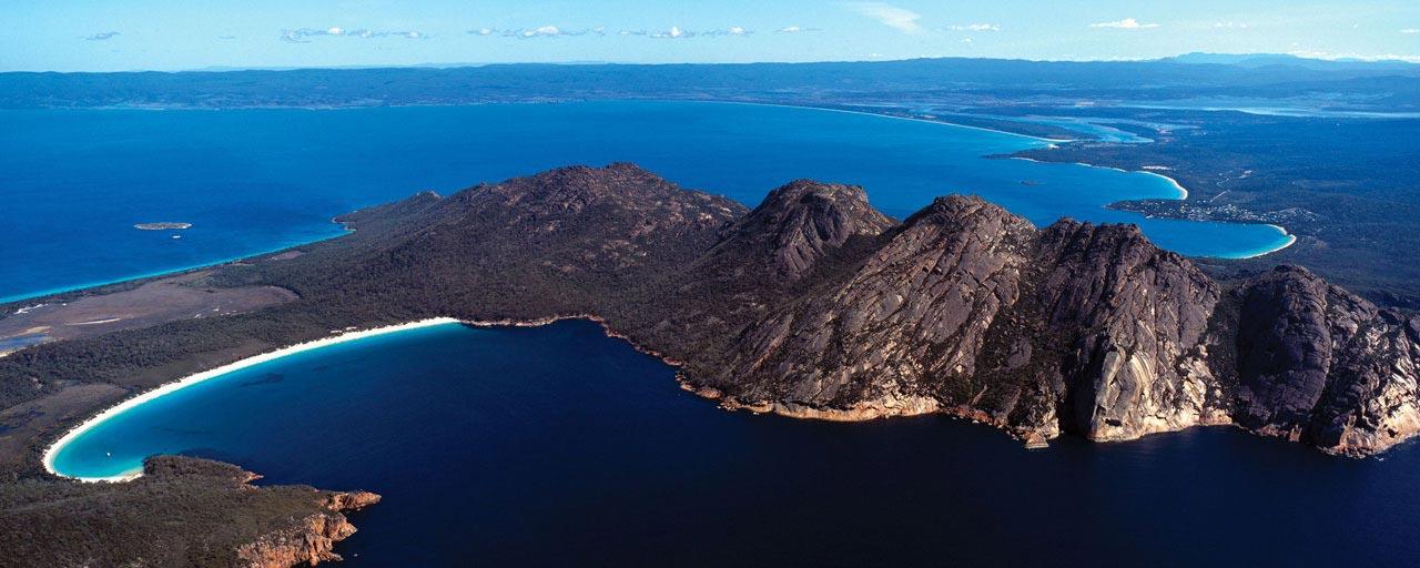 Freycinet – Tasmanie – Vue aérienne