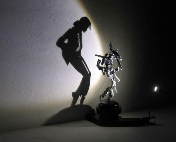 Ombre de Michael Jackson par Tim Noble et Webster