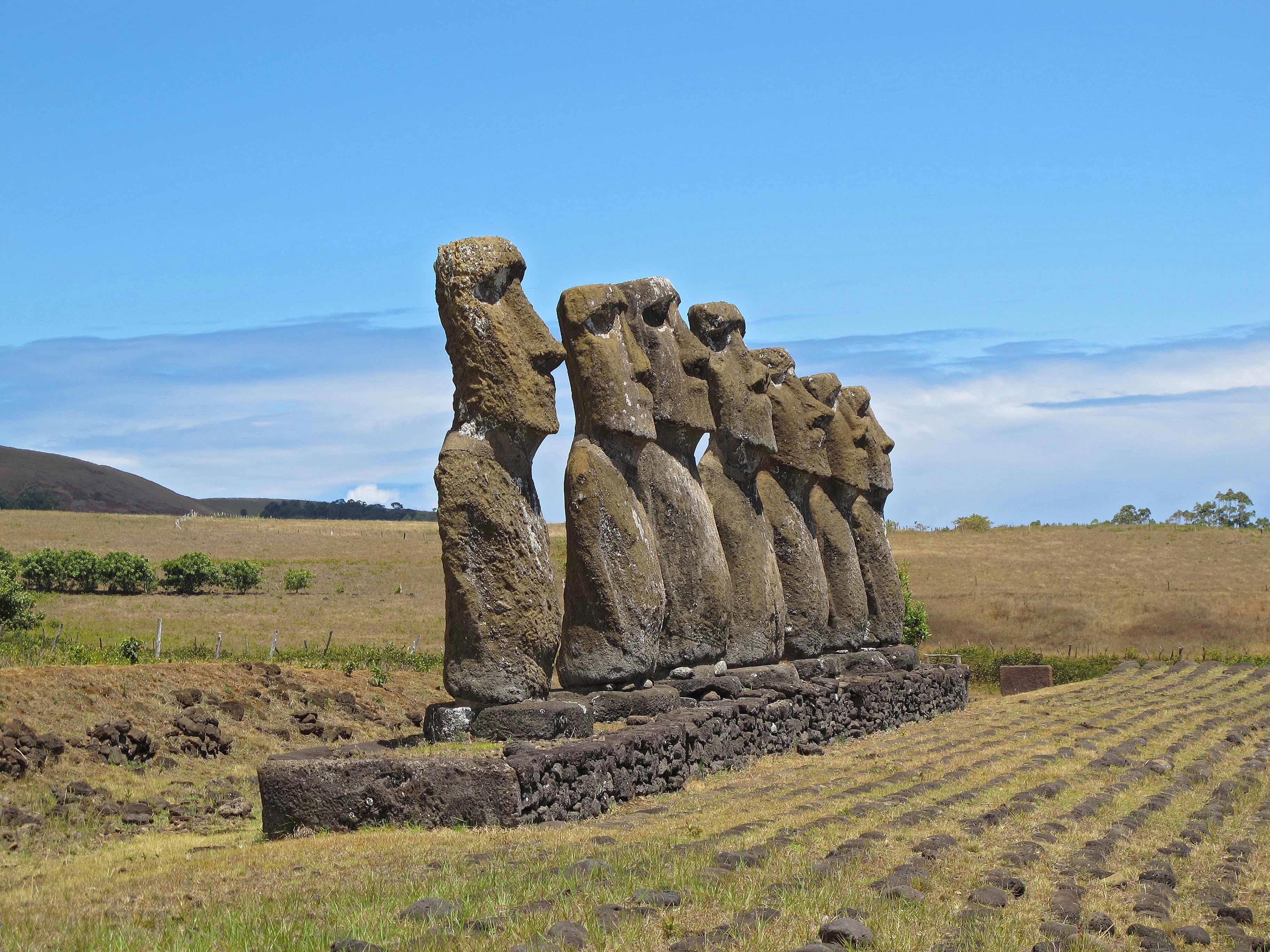 Statues - Iles de paques - Chili