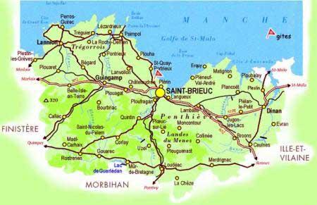 Bretagne du Nord - Carte