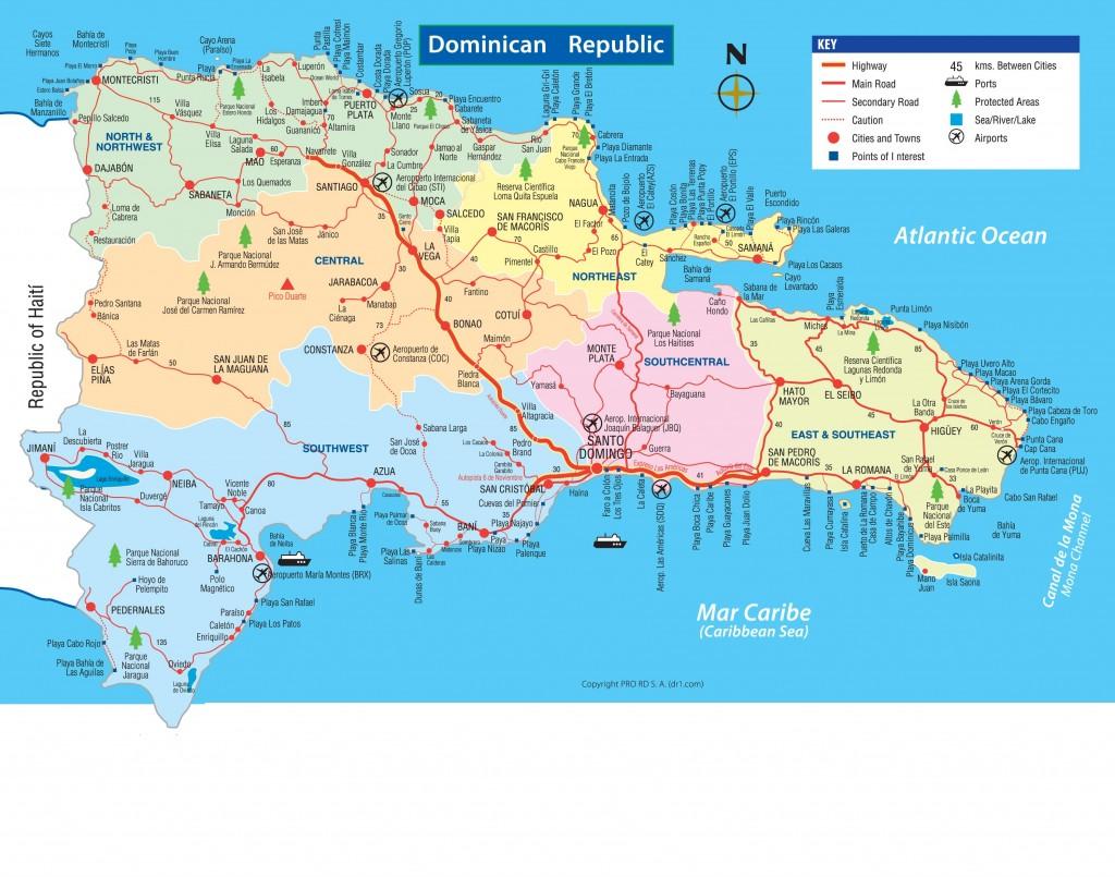 République Dominicaine - Carte