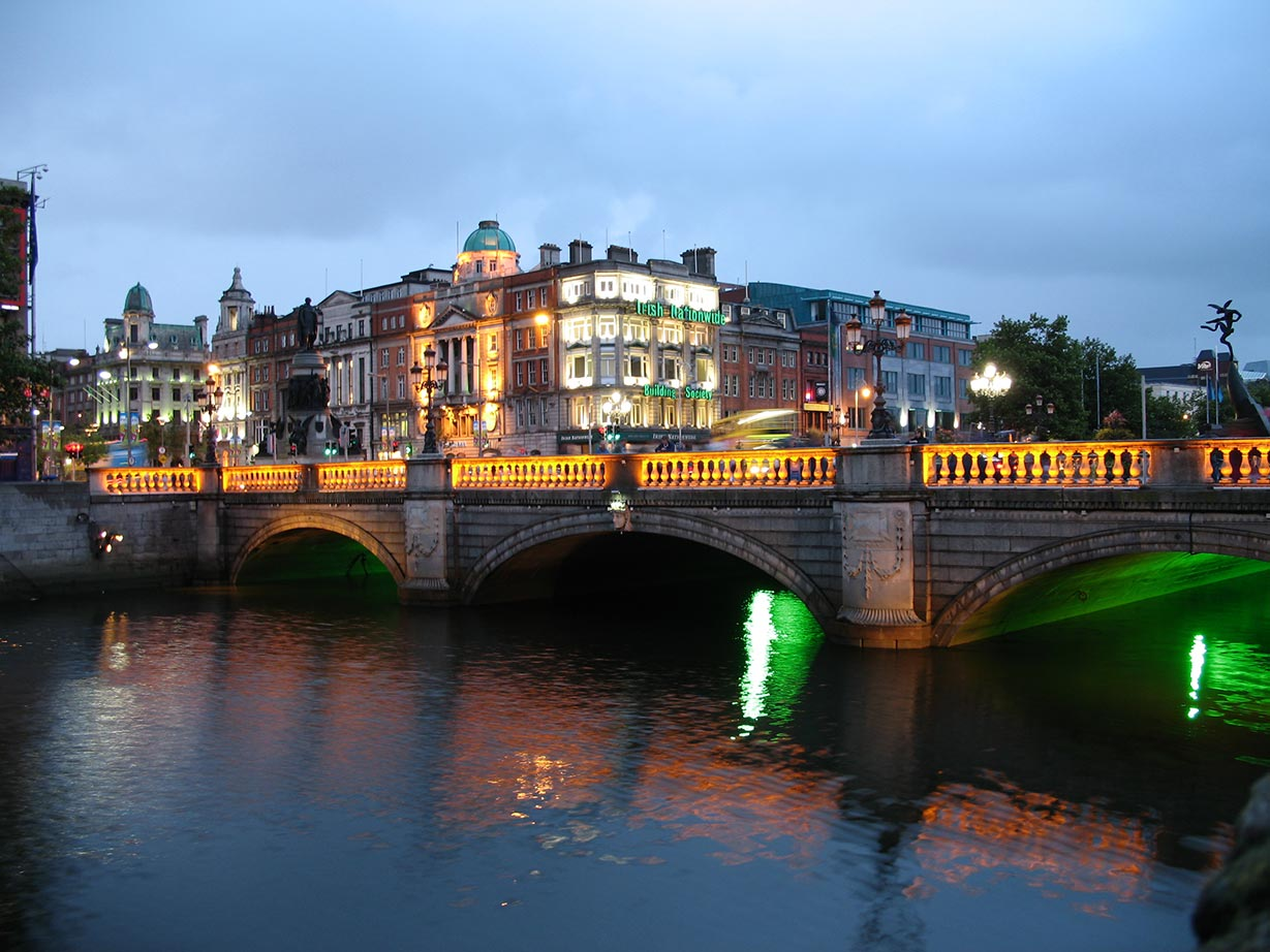 Photo de Dublin la nuit