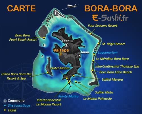 Carte Bora Bora