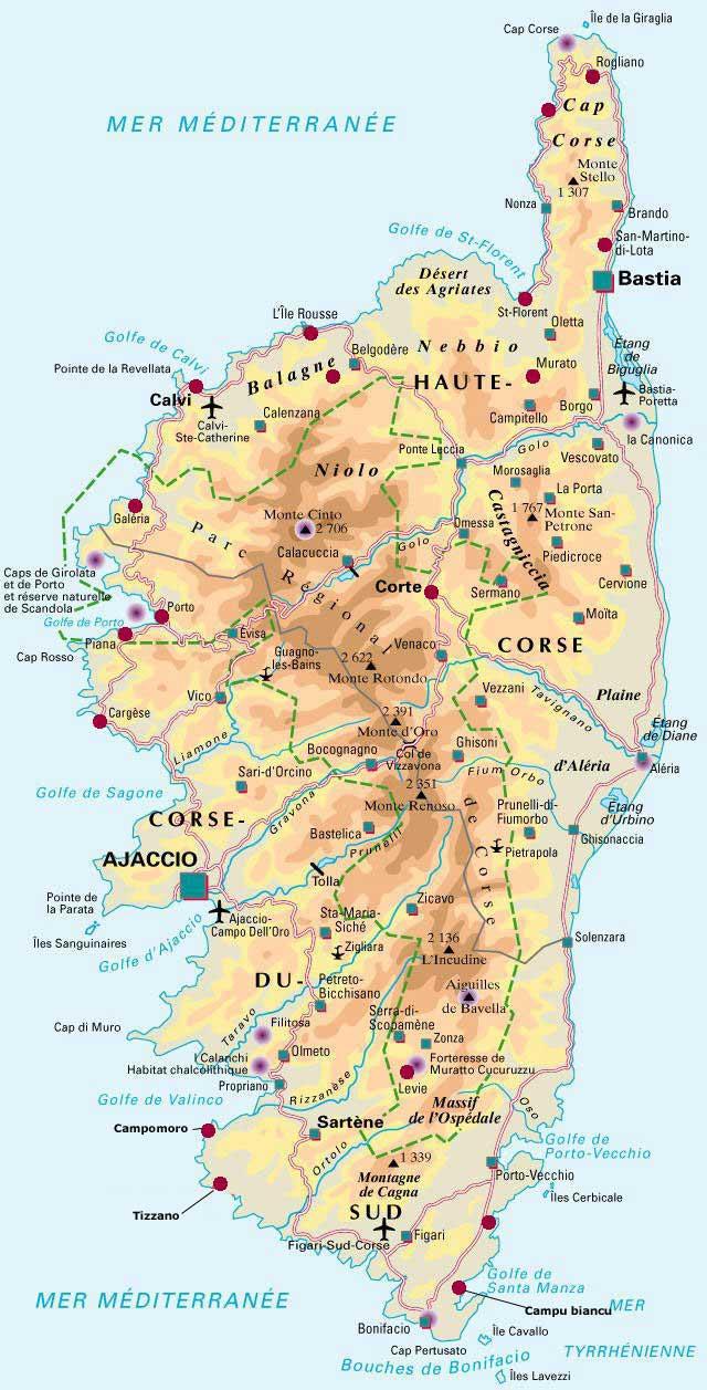 Carte de Corse