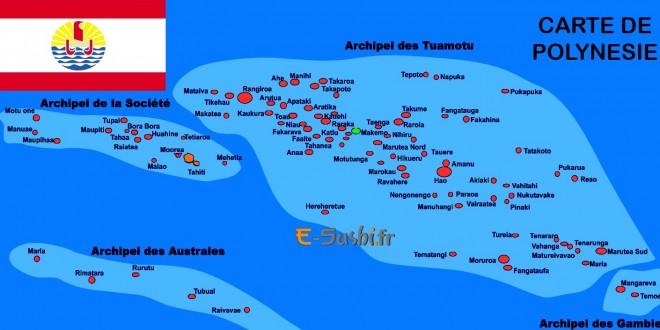 Carte de Polynésie