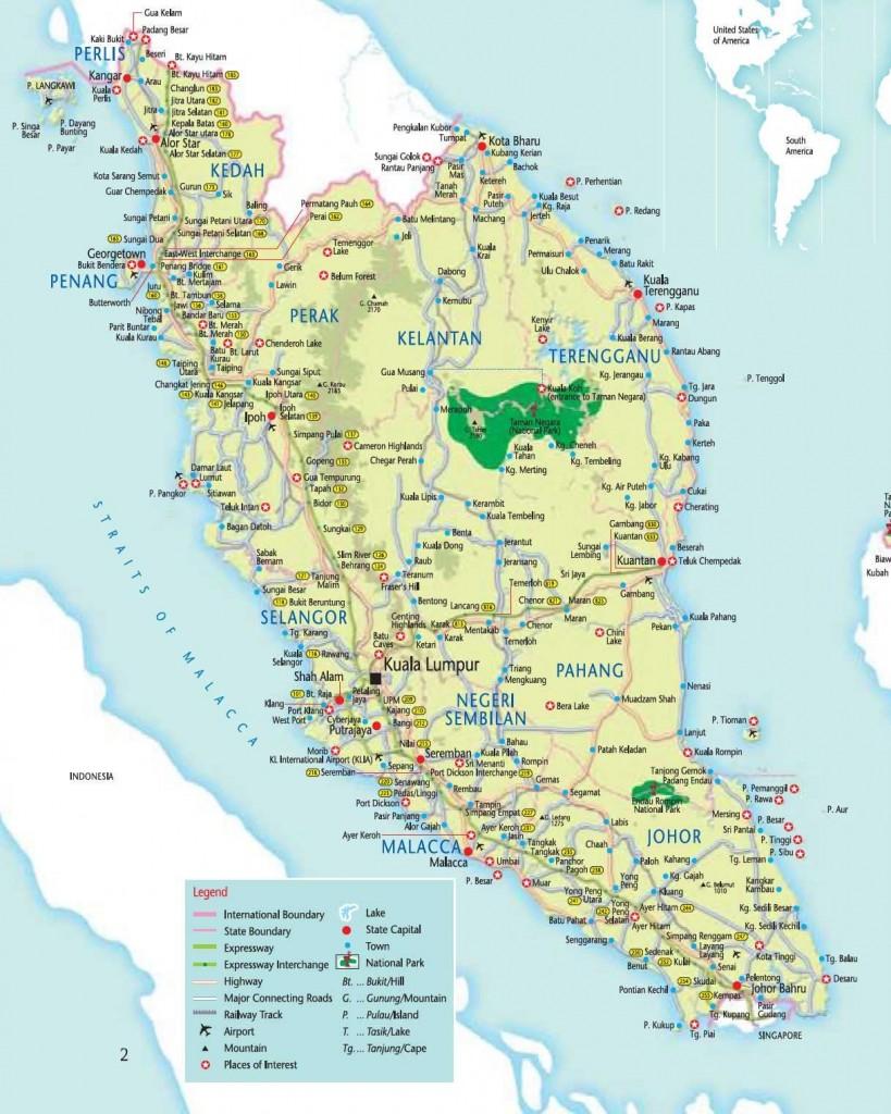 Carte de Malaisie