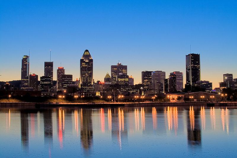 Coucher de soleil à Montréal