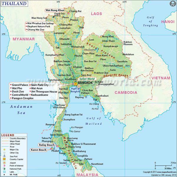 Thailande - Carte