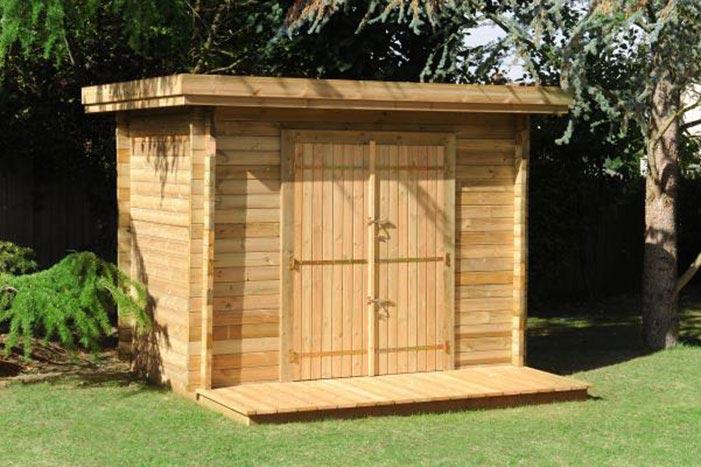 Jardin et Abri bois avec terrasse