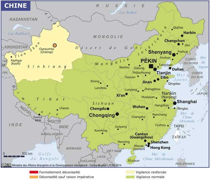 Chine - Carte