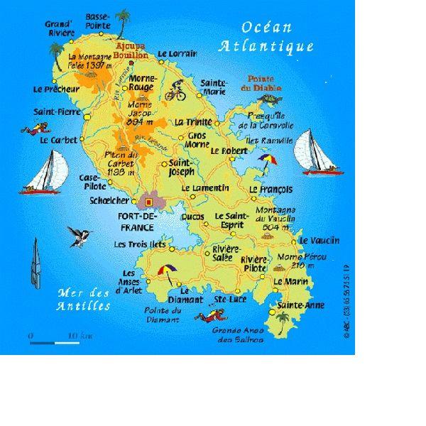 carte martinique plan geographique