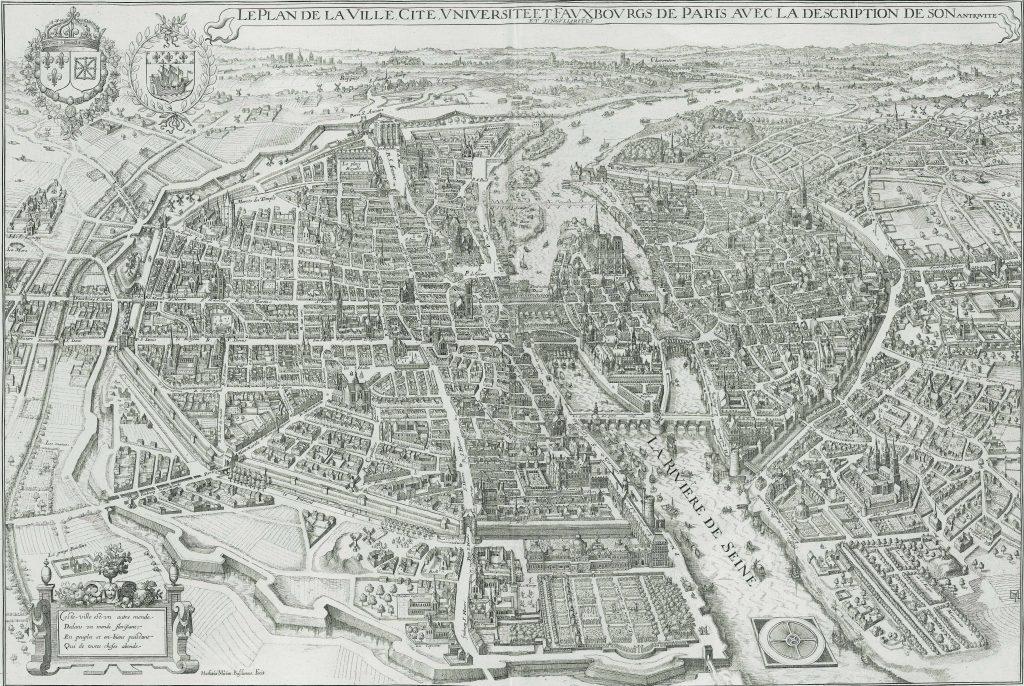Vieux plan de Paris