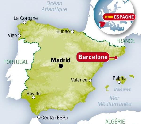 carte-espagne-barcelone-images-et-photos