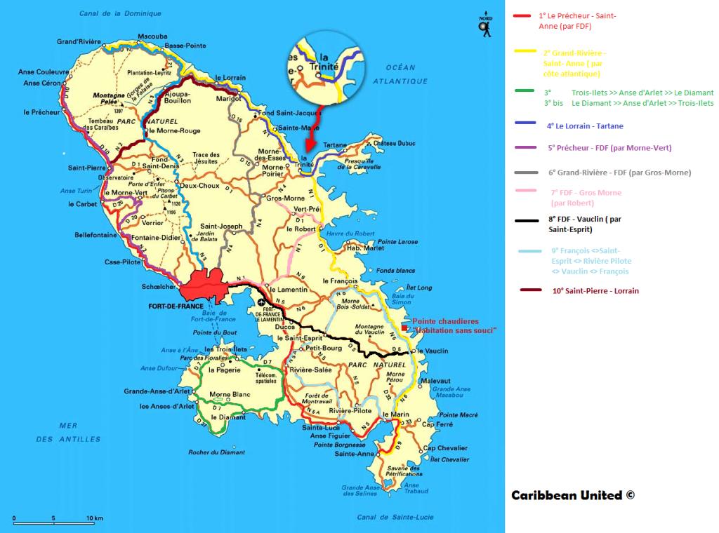 """""""Carte ile de la Martinique géographie générale"""