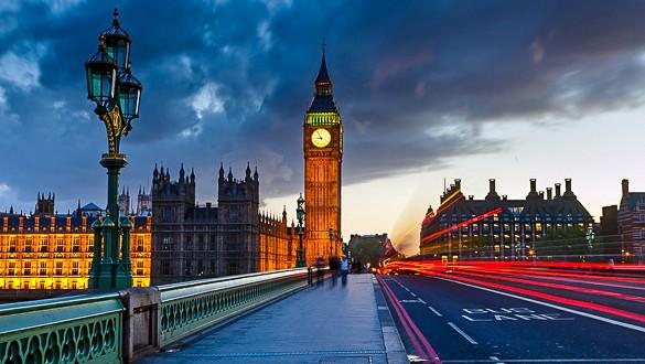 Londres - Tour du Big-ben sur le pont Elizabeth