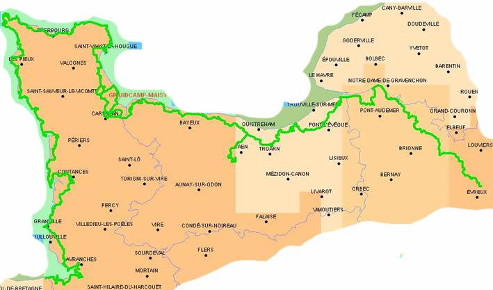 carte mont saint michel et ses environs en quad