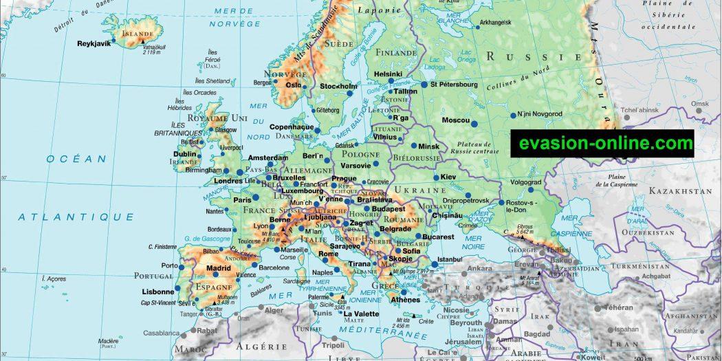Carte Europe HD