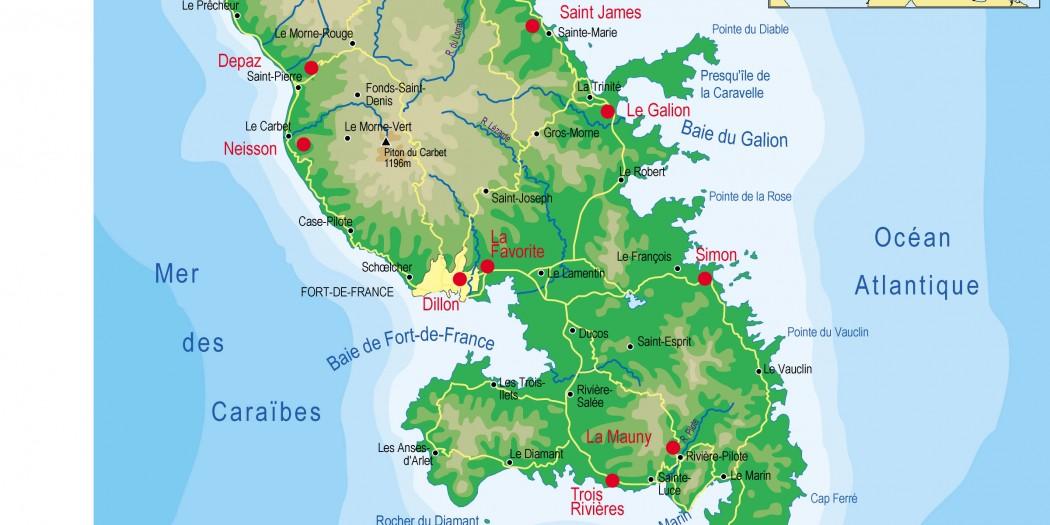 Martinique carte caraibes