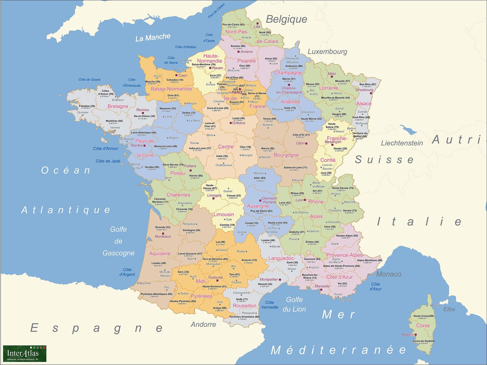 Carte - France - Europe