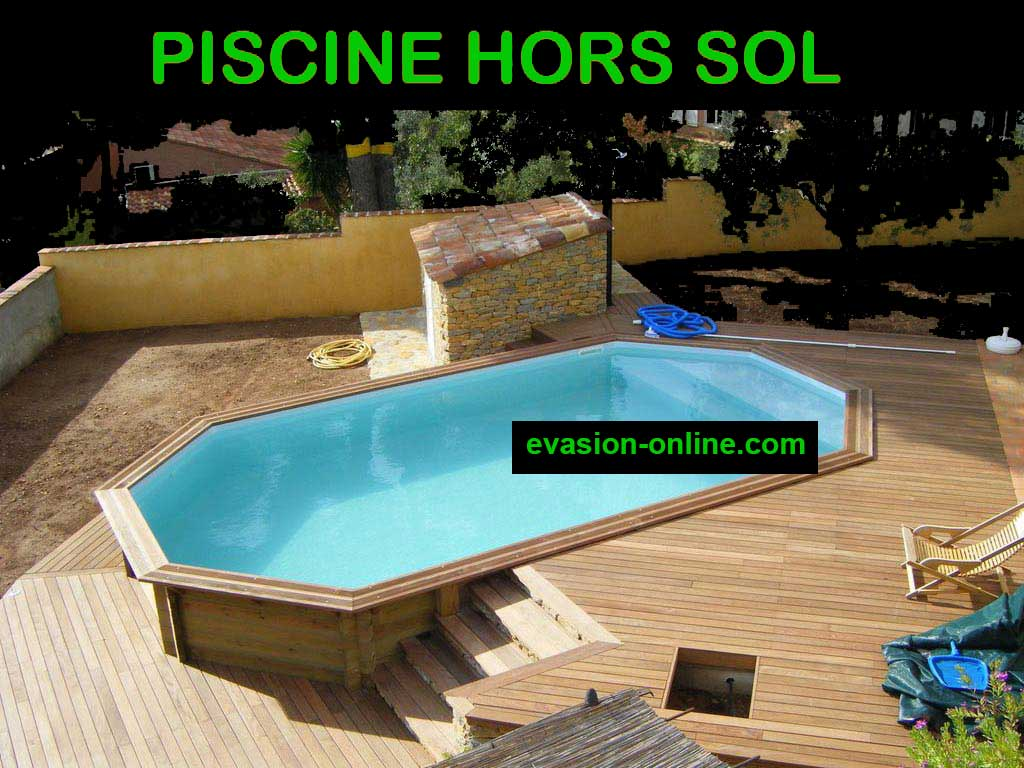 piscine hors sol en bois pas cher decoration piscine en. Black Bedroom Furniture Sets. Home Design Ideas